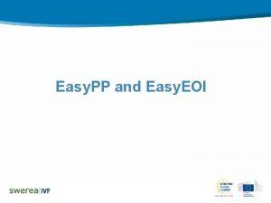 Easy PP and Easy EOI Easy PP Write