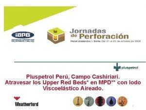 Pluspetrol Per Campo Cashiriari Atravesar los Upper Red
