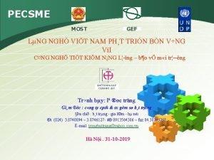 PECSME GEF MOST LNG NGH VIT NAM PHT