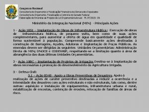 Congresso Nacional Consultoria de Oramento e Fiscalizao Financeira