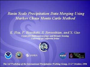 Basin Scale Precipitation Data Merging Using Markov Chain
