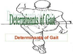 Determinants of Gait Determinants of Gait I Displacement