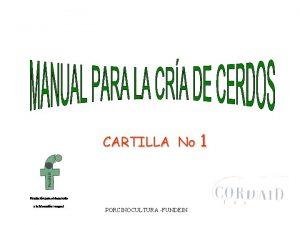 CARTILLA No 1 Fundacin para el desarrollo y