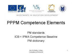 PPPM Competence Elements PM standards ICB IPMA Competence