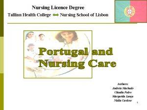 Nursing Licence Degree Tallinn Health College Nursing School