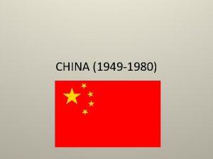 CHINA 1949 1980 Mao Zedong Communist leader 1949