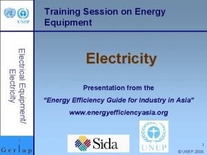 Training Session on Energy Equipment Electrical Equipment Electricity