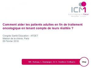 Comment aider les patients adultes en fin de