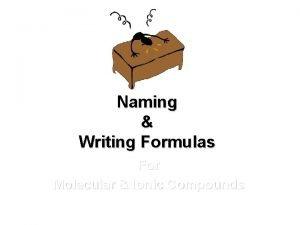Naming Writing Formulas For Molecular Ionic Compounds Naming