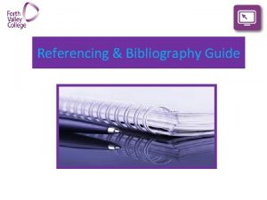 Referencing Bibliography Guide Referencing Citing in your coursework