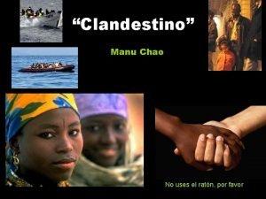 Clandestino Manu Chao No uses el ratn por