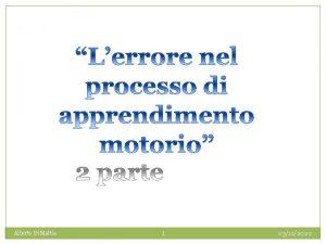 Alberto Di Mattia 1 03112020 La difficolt nel