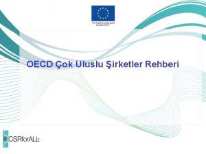 OECD ok Uluslu irketler Rehberi OECD ok Uluslu