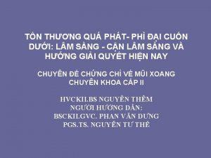 TN THNG QU PHT PH I CUN DI