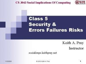 CS 3043 Social Implications Of Computing Class 5
