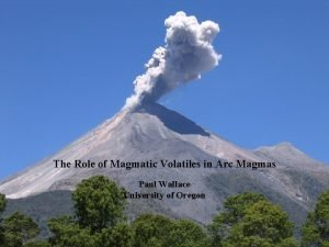 The Role of Magmatic Volatiles in Arc Magmas