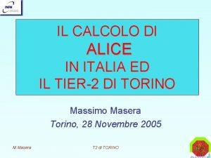 IL CALCOLO DI ALICE IN ITALIA ED IL