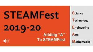 STEAMFest 2019 20 Adding A To STEAMFest Science