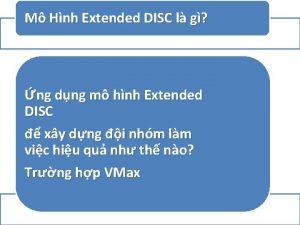 M Hnh Extended DISC l g ng dng
