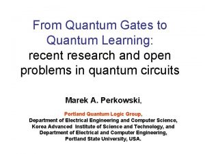 From Quantum Gates to Quantum Learning recent research