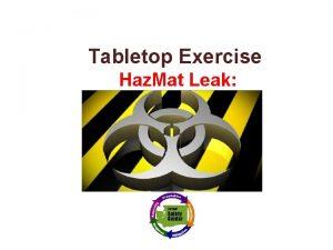 Tabletop Exercise Haz Mat Leak Texas School Safety