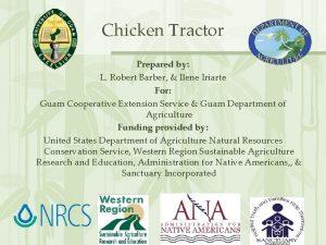 Chicken Tractor Prepared by L Robert Barber Ilene