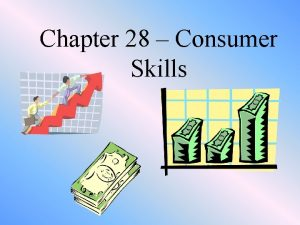 Chapter 28 Consumer Skills Being a Good Consumer