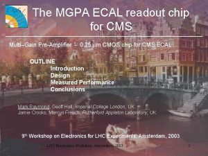 The MGPA ECAL readout chip for CMS MultiGain