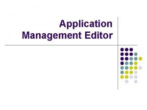 Application Management Editor Defining Node and Node Capabilities