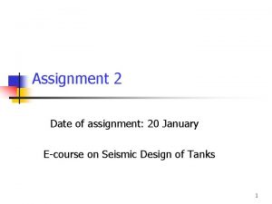 Assignment 2 Date of assignment 20 January Ecourse