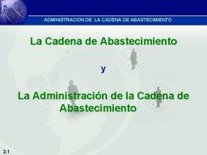ADMINISTRACION DE LA CADENA DE ABASTECIMIENTO La Cadena