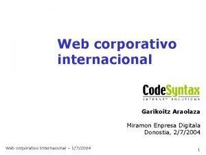 Web corporativo internacional Garikoitz Araolaza Miramon Enpresa Digitala