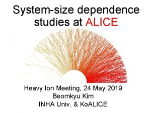 Systemsize dependence studies at ALICE Heavy Ion Meeting