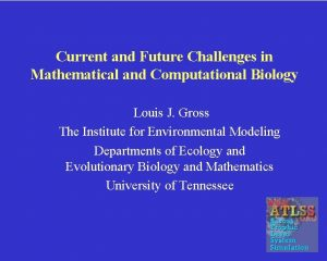 Current and Future Challenges in Mathematical and Computational