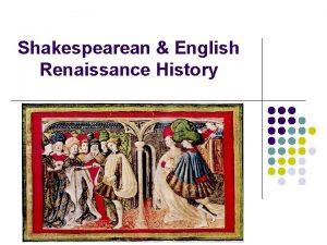 Shakespearean English Renaissance History Exploration Colonisation l The