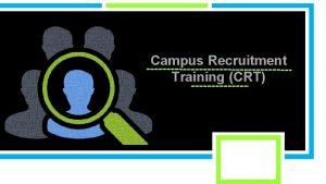 Campus Recruitment Training CRT Topics Covered CRT Aptitude