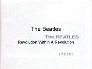 The Beatles Revolution Within A Revolution Revolution By