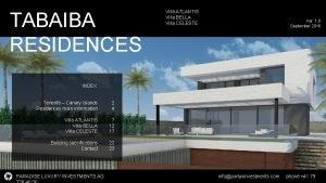 TABAIBA RESIDENCES Villa ATLANTIS Villa BELLA Villa CELESTE