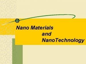 Nano Materials and Nano Technology Concepts of Nanoscience