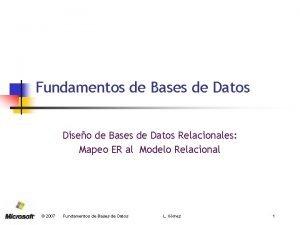Fundamentos de Bases de Datos Diseo de Bases