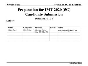 November 2017 doc IEEE 802 11 171814 r