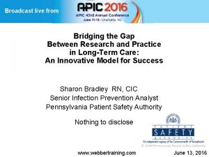 Broadcast live from Bridging the Gap Between Research