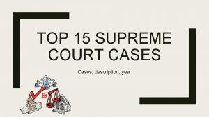TOP 15 SUPREME COURT CASES Cases description year