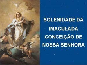 SOLENIDADE DA IMACULADA CONCEIO DE NOSSA SENHORA CAMPANHA