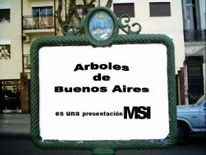 MSI es una presentacin Dicen que Buenos Aires