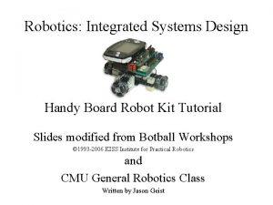 Robotics Integrated Systems Design Handy Board Robot Kit