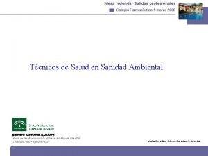 Mesa redonda Salidas profesionales Colegio Farmacutico 5 marzo