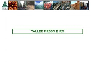 TALLER FIRSSO E IRO OBJETIVOS OBJETIVO GENERAL Establecer