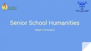 Senior School Humanities Subject Information VCE Business Management