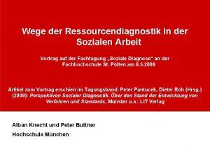 Wege der Ressourcendiagnostik in der Sozialen Arbeit Vortrag